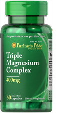 Triple Magnesium Complex 400 MG X 60 Capsules Puritans Pride Premium -uk SELLER