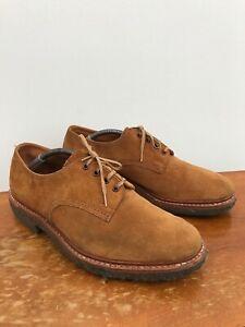 Trickers Vintage Custom Order Suede Crepe Sole Derby Shoes UK 9 Width 6