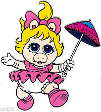 "6"" Muppet babies baby miss piggy wall safe sticker border cut out character"