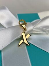 Tiffany & Co. Paloma Picasso 750 18k Gold X Kiss Charm with Clasp Vintage Rare