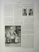 1900 VICTORIAN PRINT ~ FOREIGN AFFAIRS A.R ROPES EMPEROR OF CHINA TURKISH PASHA