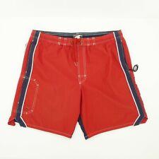 Speedo Board Shorts Swim Trunks Size M red front Blue Back