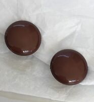 Clip On Earrings Vintage Retro Gogo 1960s Style Brown Prom Party