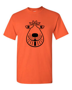 Mens retro 70's Space Hopper T Shirt Men's orange bouncer tee
