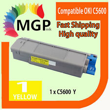 1x Yellow Compatible Toner cartridge for OKI C5600 C5700 5600 5700 43381909