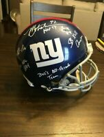 Michael Strahan Full Size Autographed Helmet w/ 5 inscriptions and JSA Authentic