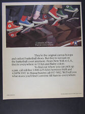 1983 Converse All Star Shoes red blue purple green hi low photo vintage print Ad