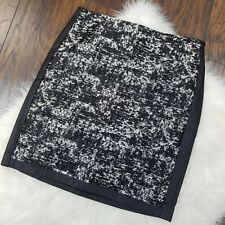 Ann Taylor Size 6 Pencil Skirt Black White