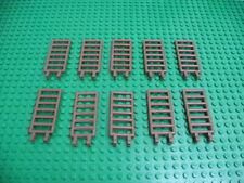 4x LEGO Old Light Gray Standard Brick 1 x 16 Classic Space Castle Pirate  #2465