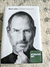 Steve Jobs by Walter Isaacson SIGNED AUTOGRAPHED APPLE MAC -BOOK / HC