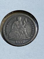 1877-CC US Seated Liberty Dime!!