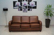 3 er 190cm Echtleder Sofa Couch mit Schlaffunktion Echt Leder Ledersofa