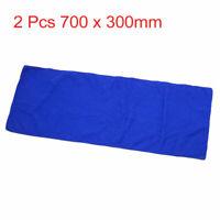 2 Pcs 700 x 300mm Blue Microfiber Car Vehicle Washing Cleaning Towel Cloth