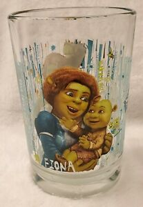2007 Shrek Forever After, Collectors McDonald Drinking Glass, Fiona - used