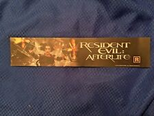 "Resident Evil Afterlife (2010) BOX OFFICE MOVIE MYLAR 2.5"" X 11.5"""