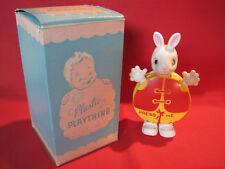 Vintage Irwin Plastic Plaything Rabbit child's squeak toy w/ box, Easter toy
