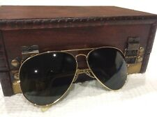 b397162675 Vintage Bausch   Lomb Ray-Ban Large Aviator Men Sunglasses GOLD Wire Frame  USA
