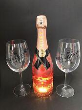 Moet Chandon Nectar Imperial Rose Champagner N.I.R. 0,75l 12% Vol + 2 Gläser