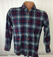 Pendleton Mens Multicolored  Plaid 100% Virgin Wool Vintage Button Down Shirt M