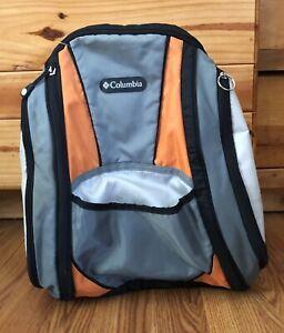 Columbia Diaper Bag Backpack Gray Orange