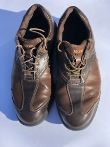 Etonic Soft Tech Brown Golf Shoes Power Pod Atheletic Cleats Size 11