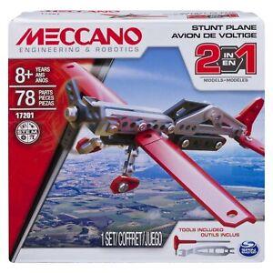 Meccano Stunt Plane 2 in 1 Model Building Kit 6036041 Brand NEW & Boxed