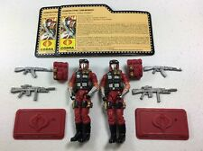 GI Joe Cobra Con 2009 Figure Lot Crimson Strike Team Vipers x2 Army Builder