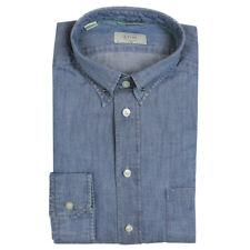 """Camisa de cuello de colegial Denim Pin 15.5"""" Collar - * NUEVO con etiquetas * PVP £ 130"""