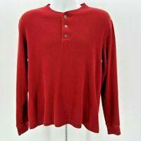 Eddie Bauer Red Thermal Long Sleeve Shirt Men's Medium