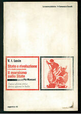 LENIN  V. I. STATO E RIVOLUZIONE SAVELLI 1972 LA NUOVA SINISTRA MARXISMO