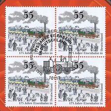 BRD 2010: Eisenbahn 175 Jahre! Viererblock Nr. 2833 mit Berlin-Stempel! 1A 1704