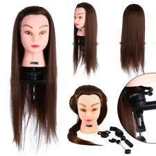 """26"""" Real Hair Practice Training Head Mannequin Hairdressing Doll Model Doll"""