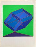 Achille Perilli serigrafia originale Bolaffi  Picche  28x21 perfetta non firmata