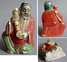 Un immortel chinois statue statuette en pierre 19e siècle Chine China