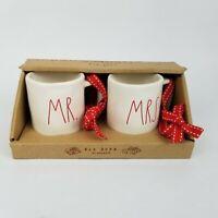Rae Dunn Mr. and Mrs. Mini Mug or Christmas Ornament Set New Wedding Anniversary