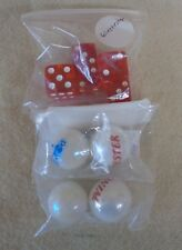 Lot of 4 Advertising MARBLES and 5 Dice WINCHESTER and POPEYE (TH1261)