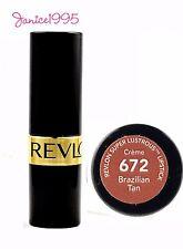 REVLON Super Lustrous Lipstick Creme #672 BRAZILIAN TAN