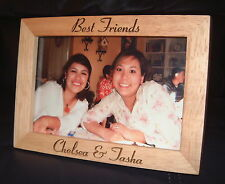 "Personalized Engraved ""Best Friends"" BFF 4x6 Photo Frame"