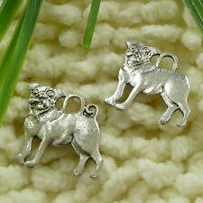 Free Ship 38 pieces tibetan silver dog charms 20x20mm S1189