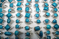 Fashion Jewelry wholesale lots 8pcs lines small gemstone&silver p Women's rings