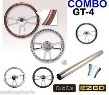 Club Car Golf Cart Billet GT-4 Steering Wheel Combo Set