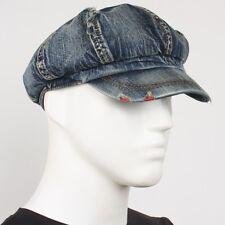 Jean Unisex Vintage Denim Gatsby Applejack Hat SK Newsboy Driving Ivy Cabbie Cap