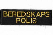 Suecia Sweden polis beredskaps placa de policia Police Patch SWAT sec seg