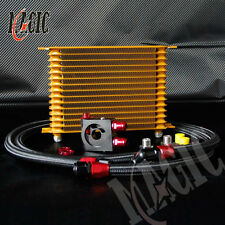 15 Row 10AN Engine Oil Cooler + 3/4*16 / m20*1.5 thermostat Sandwich Plate kit