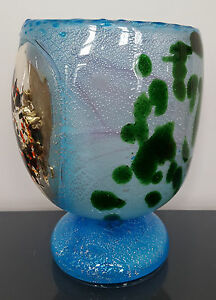 Murano Art Glass Lamp Artist Signed w/Label L'Arte Muranese
