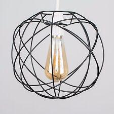 Modern 25cm LED Filament Geometric Sphere Ceiling Pendant Light Shade Lampshade Black No