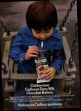 Cadbury's Milk Chocolate Buttons 1973 Magazine Advert #17774