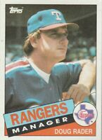 FREE SHIPPING-MINT-1985 Topps #519 Doug Rader Rangers PLUS BONUS CARDS