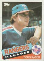 FREE SHIPPING-MINT-1985 Topps #519 Doug Rader Rangers PLUS BONUS CARDS