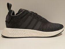 adidas NMD R2 Melange Dark Grey Black White Heather Size 10 BY2789